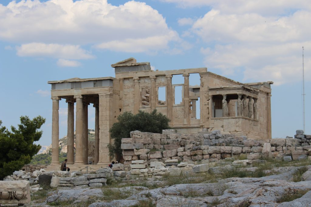 The Erechtheion and Temple of Poseidon with the Porch of the Caryatids in Athens