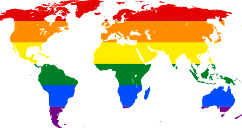 rainbow world map traveling to anti-LGBT countries