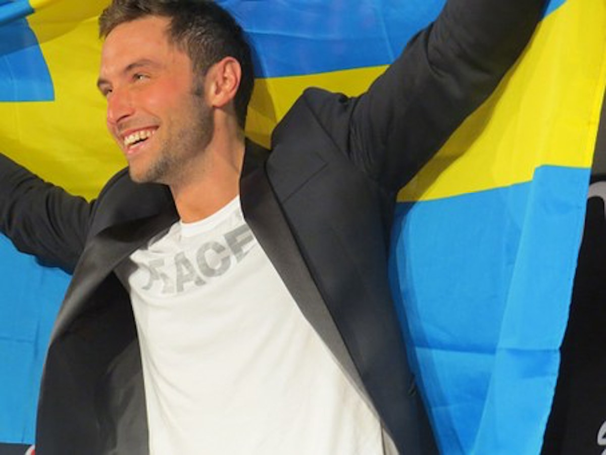 man with swedish flag what is eurovision