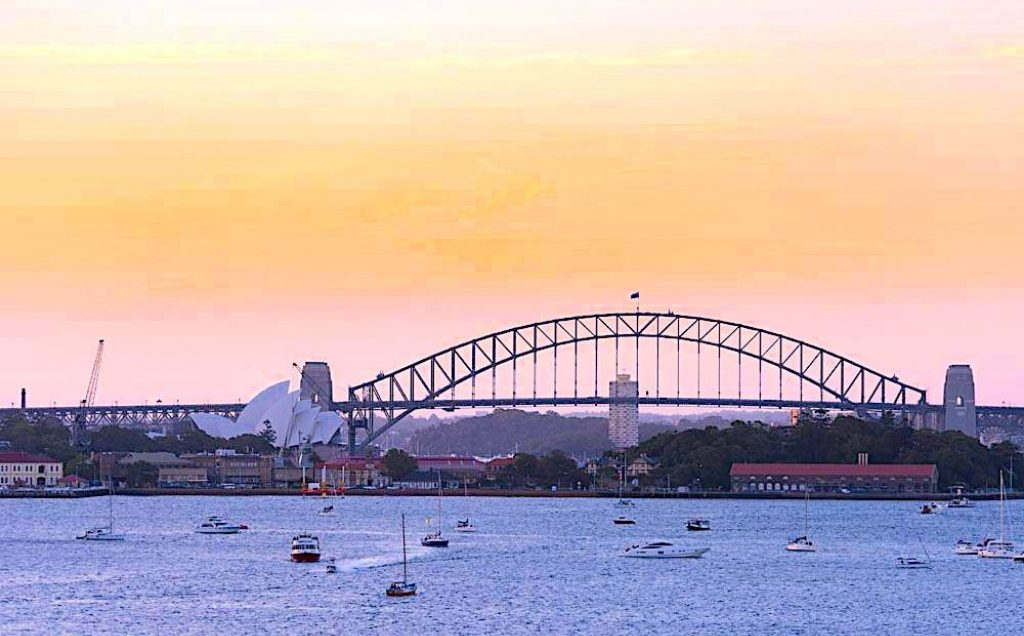 Sydney winter sunset