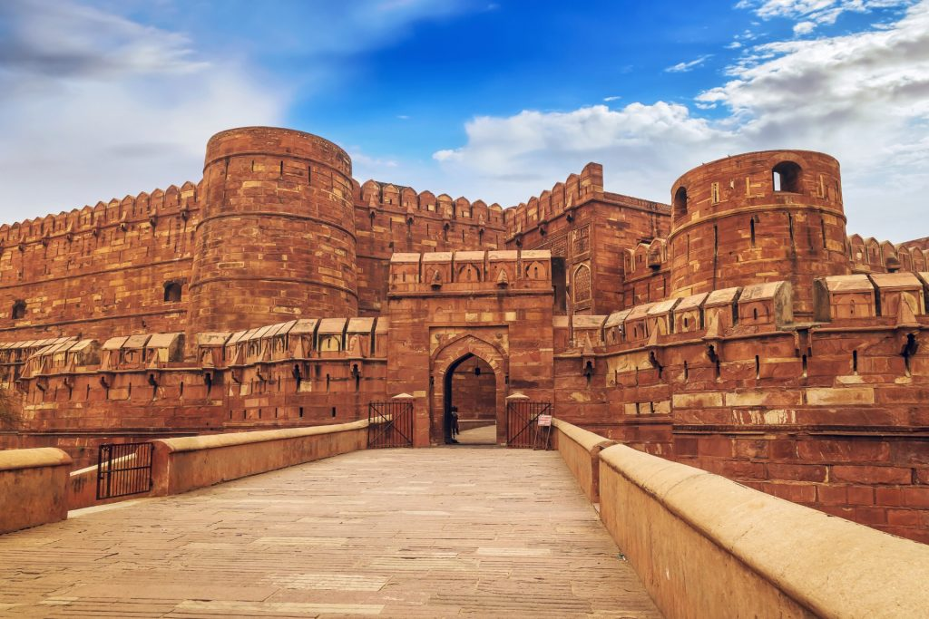 Red Fort of Agra on a Golden Triangle tour of India