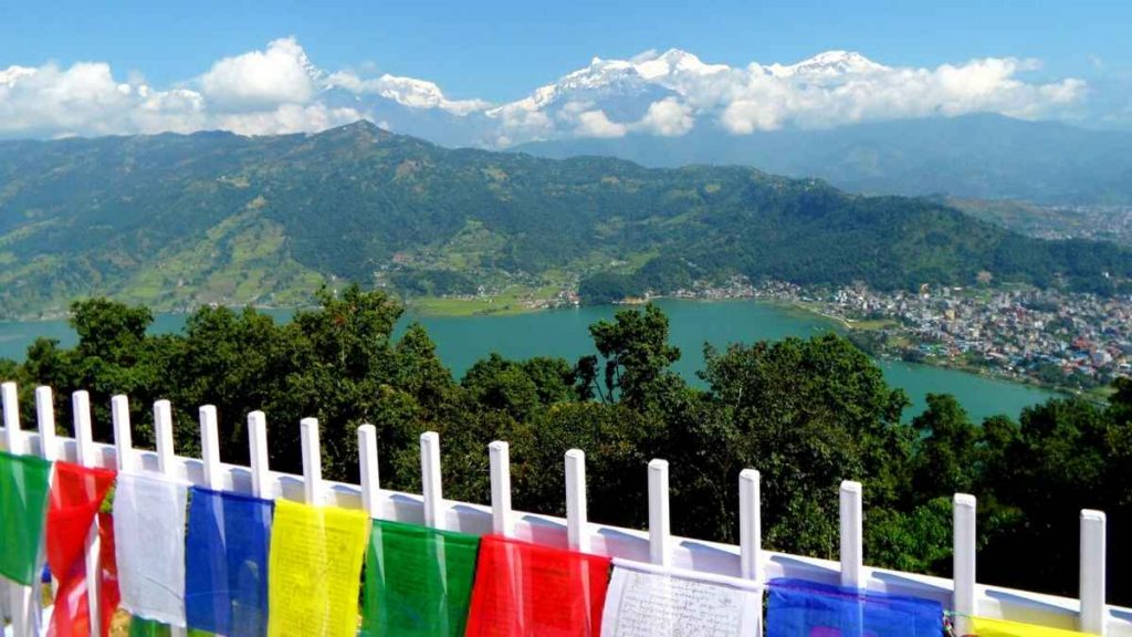 Fewa Lake, Pokhara - view from the Peace Temple