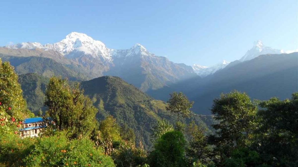 Views of Annapurna peaks Nepal Travels