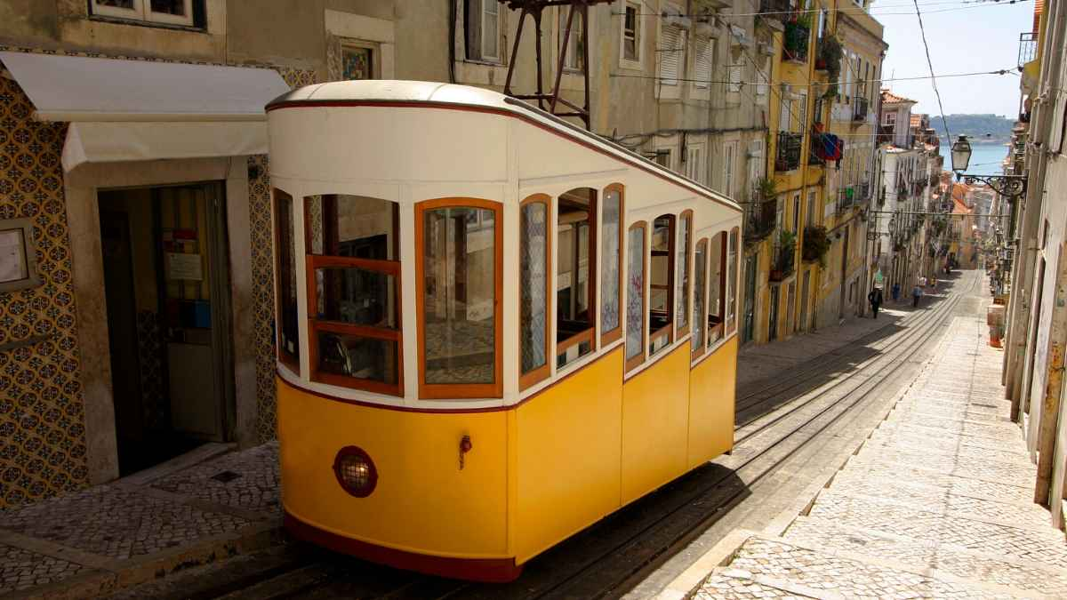 Lisbon tram car - gay Lisbon post