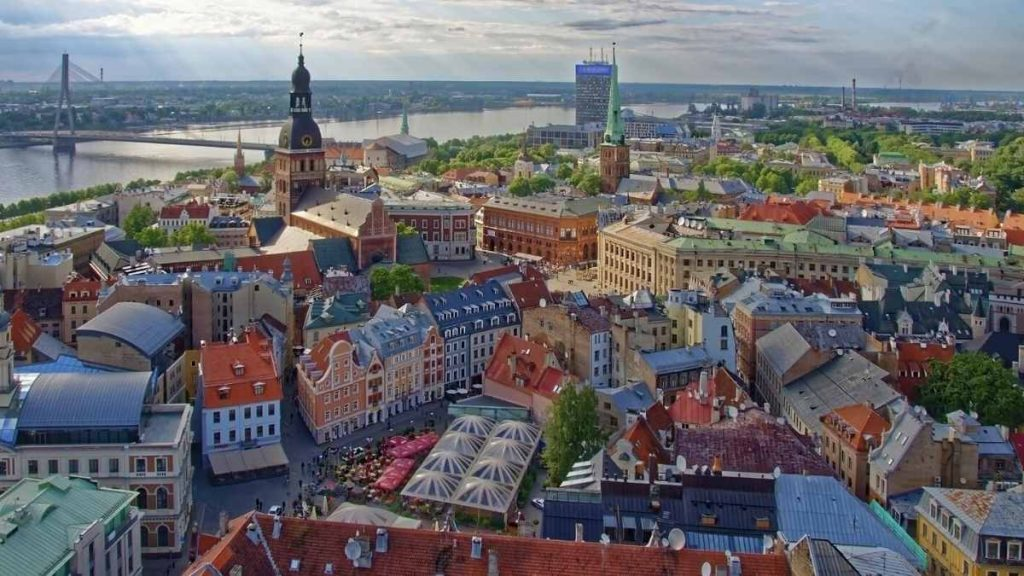 what to do in Riga - saint peter's viewing platform