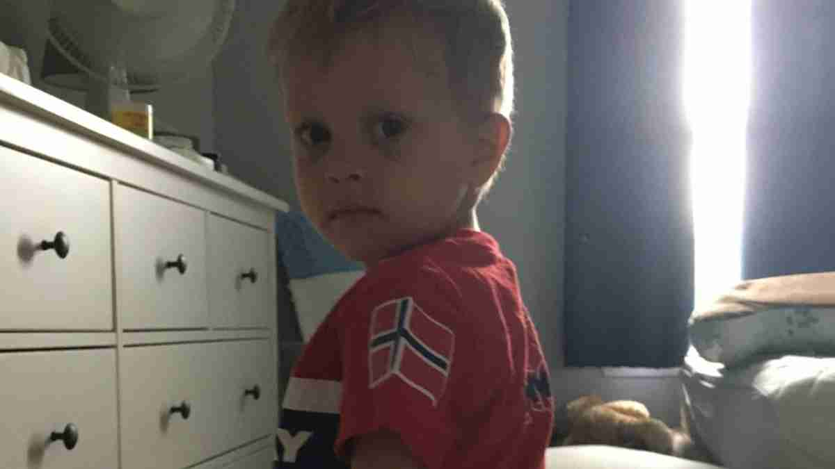 nephew in his norway shirt - missing home
