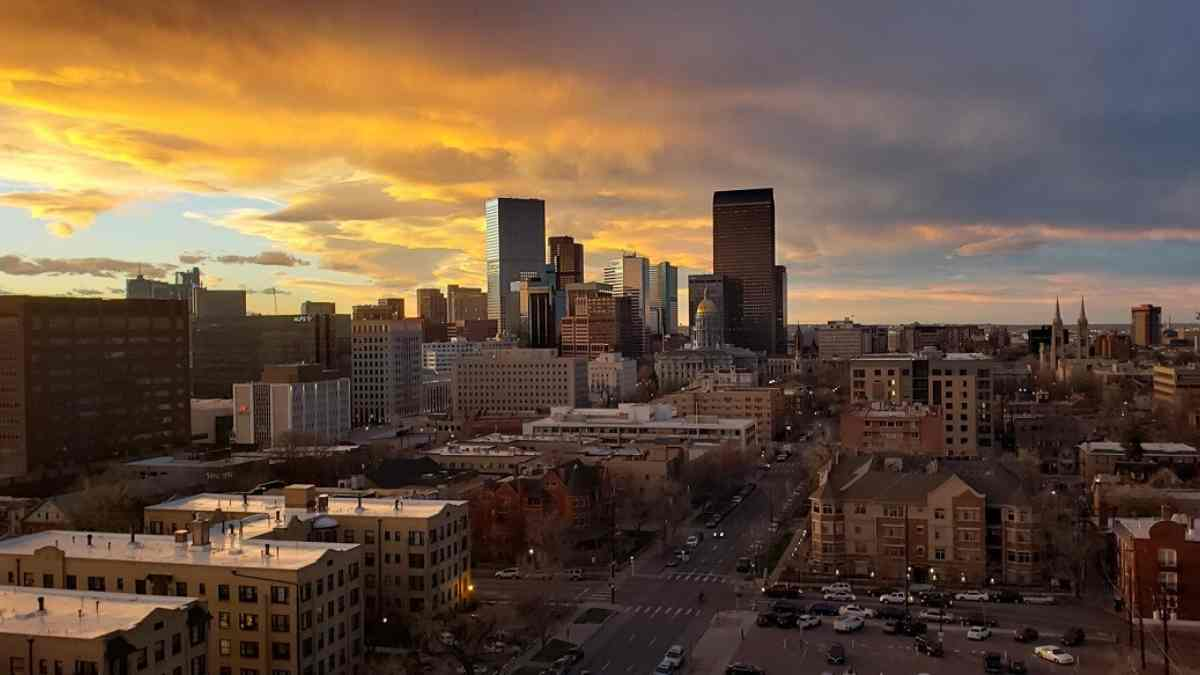 3 days in denver downtown at sunset