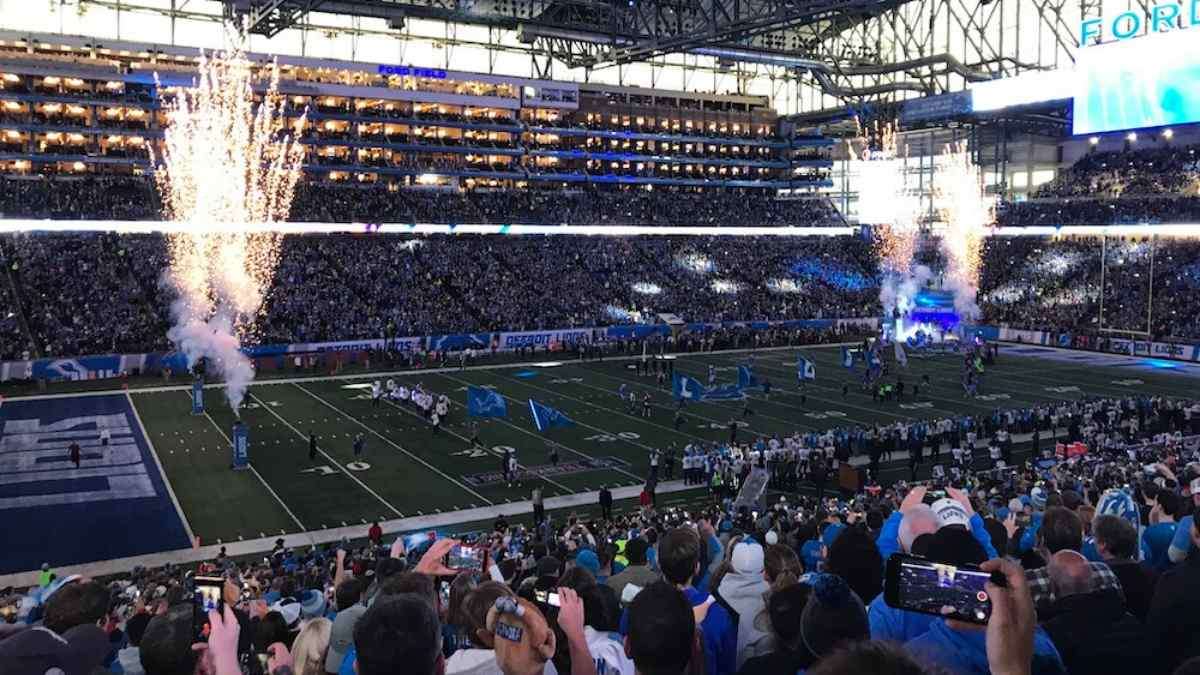 best nfl team locations detroit lions ford field