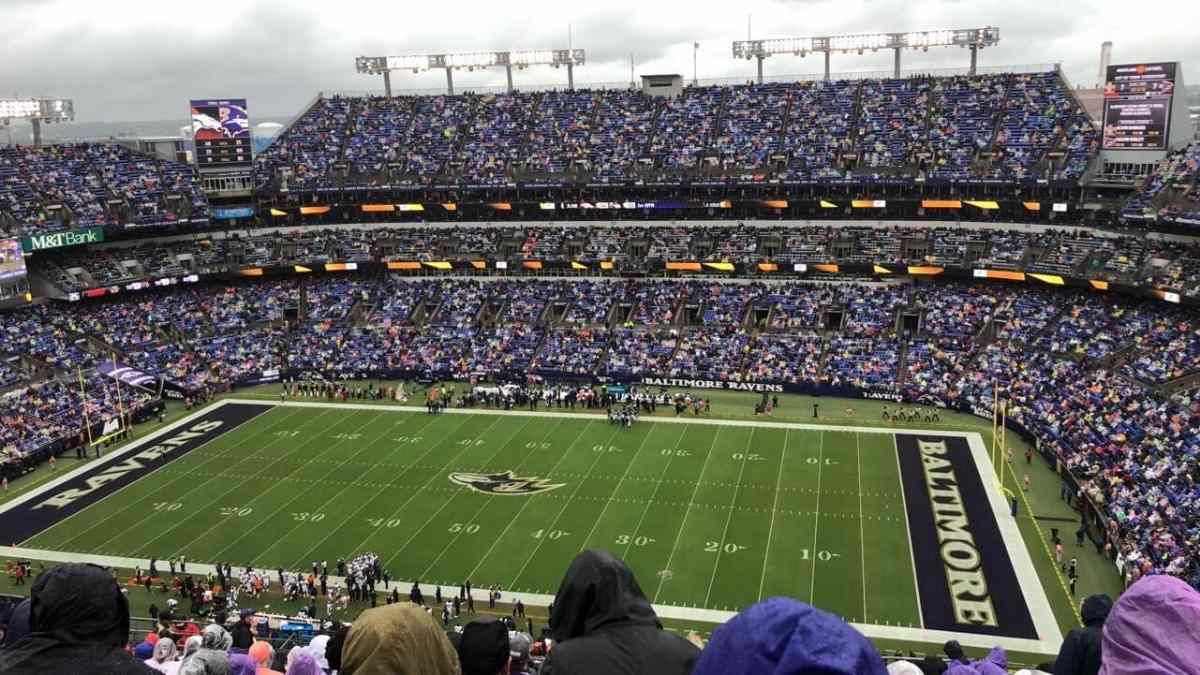 best nfl team locations baltimore ravens m&t bank stadium