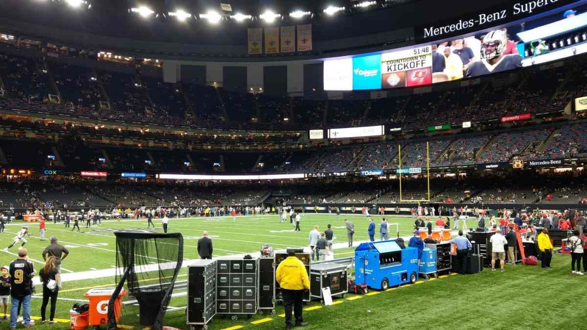 best nfl team locations new orleans saints superdome