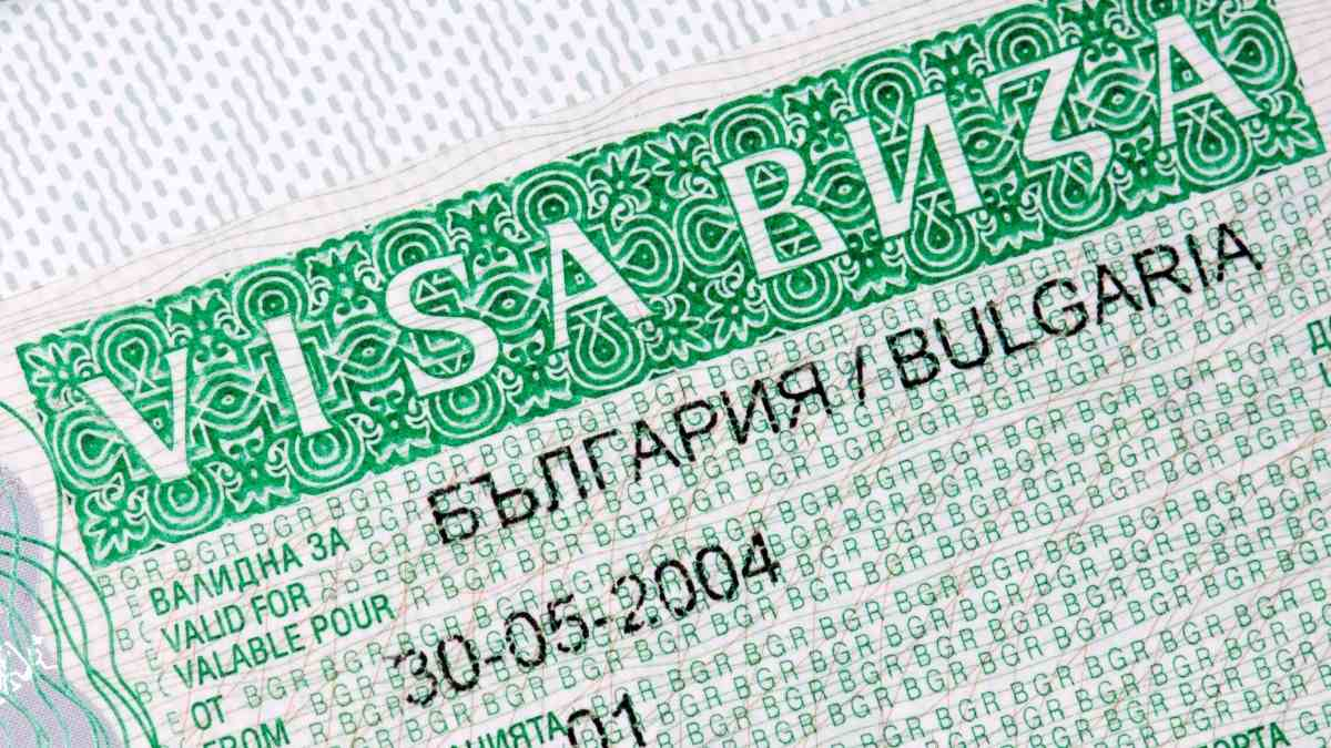 living in bulgaria getting a visa