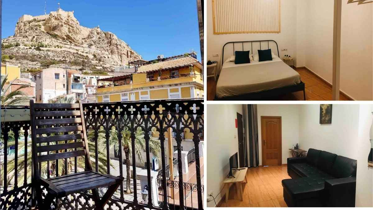 old town alicante airbnb castle views